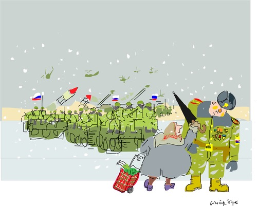 Cartoon: Empire strikes back (medium) by gungor tagged ukrania