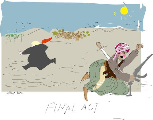 Cartoon: Final Act (medium) by gungor tagged middle,east,middle,east