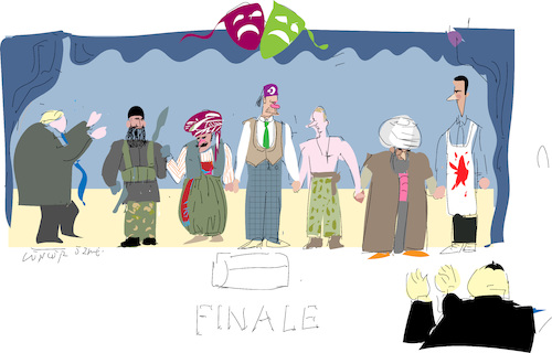 Cartoon: Finale (medium) by gungor tagged middle,east,middle,east