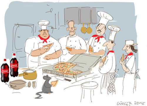 Cartoon: French Cuisine (medium) by gungor tagged france
