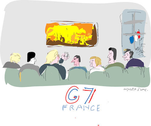 Cartoon: G 7 Summit 2019 (medium) by gungor tagged france,france