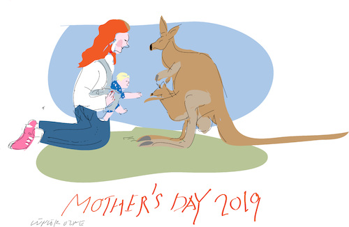 Cartoon: Mothers Day 2019 (medium) by gungor tagged mothers,mothers