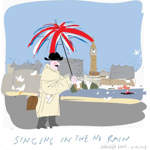 Cartoon: Umbrella without rain (medium) by gungor tagged uk,uk