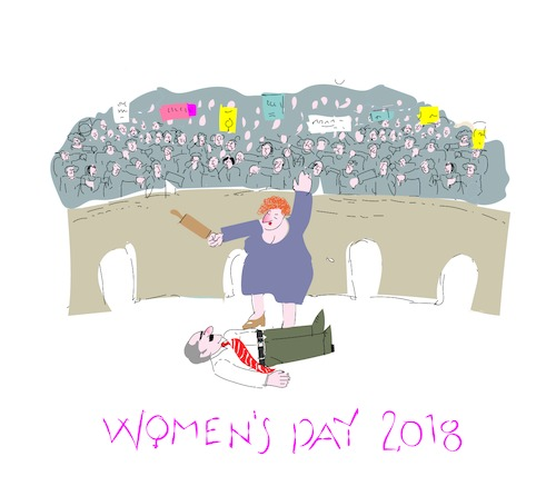 Cartoon: Women s  Day (medium) by gungor tagged woman