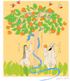 Cartoon: Adam and Eve (small) by gungor tagged church