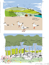 Cartoon: Byron Bay 2 (small) by gungor tagged australia