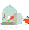 Cartoon: Comfort Zone (small) by gungor tagged living