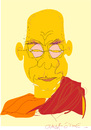 Cartoon: dalai lama-2 (small) by gungor tagged religion