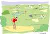 Cartoon: Golfing (small) by gungor tagged game