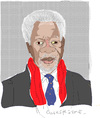Cartoon: Kofi Annan (small) by gungor tagged middle,east