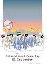 Cartoon: Peace Day 2016 (small) by gungor tagged middle,east