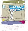 Cartoon: Press Freedom 2019 (small) by gungor tagged journalism