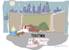 Cartoon: Together at Home (small) by gungor tagged pandemic