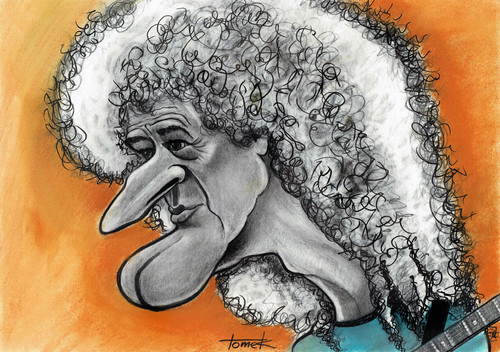 Cartoon: Brian may (medium) by Tomek tagged brian,may,queen,guitar,caricatures