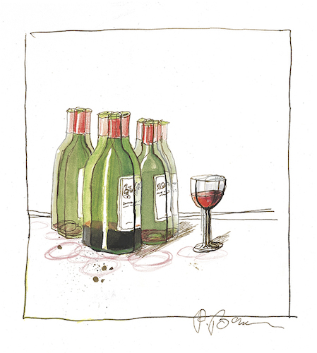 Cartoon: Ohne Titel (medium) by Peter Bauer tagged wein,genuss,alkohol,missbrauch