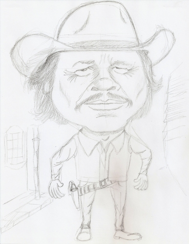 Cartoon: charles bronson (medium) by astrocaricaturas tagged charles,bronson