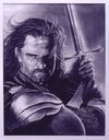 Cartoon: Aragorn Black-White pastel (small) by DIMITRIS EMM tagged aragorn,black,white,portrait,pastel,kos,dimitris,emm