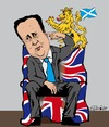 Cartoon: Cameron (small) by ESchröder tagged david,cameron,tories,snp,nicola,sturgeon,unterhauswahl,schottischer,löwe,löwengebrüll,downing,street,56,schottische,mandate,westminster,konservative