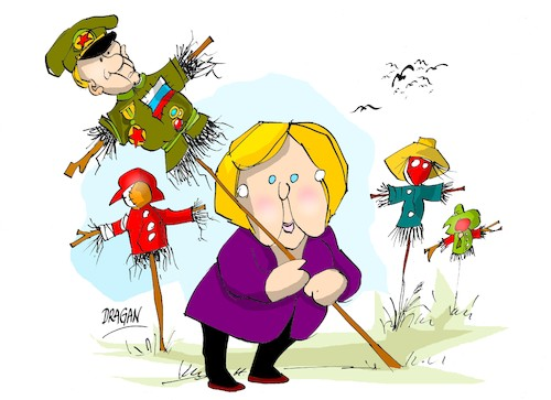 Cartoon: Angela Merkel-Rusia (medium) by Dragan tagged angela,merkel,rusia