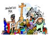 Cartoon: Haiti - Sagrado Corazon (small) by Dragan tagged haiti,terremoto,iglecia,sagrado,corazon,puerto,principe