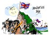 Cartoon: Los Monos de Gibraltar (small) by Dragan tagged los,monos,de,gibraltar,espana,gran,bretana,royal,navy,penon,londres,politics,cartoon
