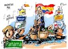 Cartoon: Mariano Rajoy descubrimiento (small) by Dragan tagged mariano,rajoy,descubrimiento,de,iberoamerica,panama,politics,cartoon