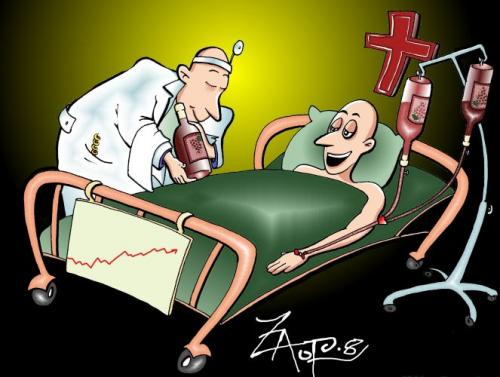 Cartoon: wine is divine (medium) by johnxag tagged hospital,doctor,medicine,grape,wine