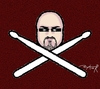 Cartoon: drummer trade mark (small) by johnxag tagged johnxag drum logo trade mark sign