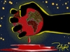 Cartoon: earth is bleeding (small) by johnxag tagged johnxag,earth,problem,environment,bleeding