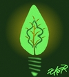 Cartoon: energizer (small) by johnxag tagged johnxag,earth,problem,environment,plant,leaves