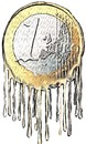 Cartoon: melting euro (small) by johnxag tagged johnxag,melting,euro