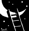 Cartoon: romance (small) by johnxag tagged fly,flight,moon,romantic,night,stars,johnxag