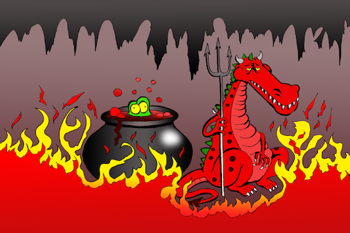 Cartoon: Alligator Hell... (medium) by berk-olgun tagged alligator,hell