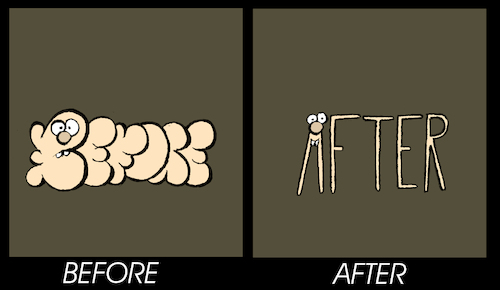 Cartoon: Before-After... (medium) by berk-olgun tagged before,after