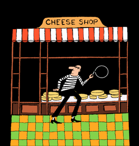 Cartoon: Cheese Shop... (medium) by berk-olgun tagged cheese,shop