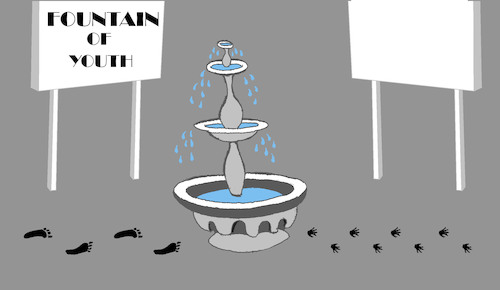 Cartoon: Fountain of Youth... (medium) by berk-olgun tagged fountain,of,youth