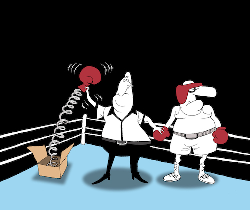 Cartoon: One Punch Knockout... (medium) by berk-olgun tagged one,punch,knockout