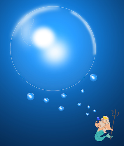 Cartoon: Poseidon Bubble.. (medium) by berk-olgun tagged poseidon,bubble