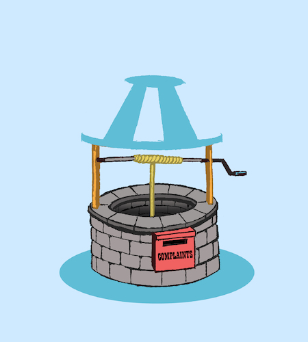 Cartoon: Wishing Well... (medium) by berk-olgun tagged wishing,well