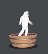 Cartoon: Bigfoot... (small) by berk-olgun tagged bigfoot