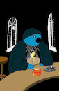 Cartoon: Blue Bird... (small) by berk-olgun tagged blue,bird