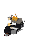 Cartoon: Bremen Jazz Musicians... (small) by berk-olgun tagged bremen,jazz,musicians