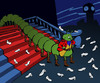Cartoon: Centipede Prince... (small) by berk-olgun tagged centipede,prince