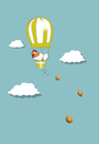 Cartoon: Chicken Balloon... (small) by berk-olgun tagged chicken,balloon
