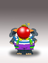 Cartoon: Clown Elephant... (small) by berk-olgun tagged clown,elephant