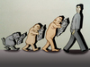 Cartoon: Evolution.. (small) by berk-olgun tagged evolution