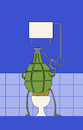 Cartoon: Hand Bomb... (small) by berk-olgun tagged hand,bomb