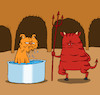 Cartoon: Hellcat... (small) by berk-olgun tagged hellcat