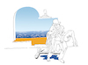 Cartoon: Lifeguard Magritte... (small) by berk-olgun tagged lifeguard,magritte
