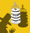 Cartoon: Magicians Birdcage... (small) by berk-olgun tagged magicians,birdcage